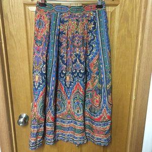 Vintage 80's bold midi skirt